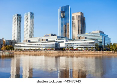 BUENOS AIRES, ARGENTINA - MAY 03, 2016: The Hilton Buenos Aires is a five star hotel in the Argentine capital. It is located in the Puerto Madero district of Buenos Aires.