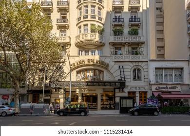 Buenos Aires, Argentina - May 12, 2018: El Ateneo Grand Splendid bookshop - Buenos Aires, Argentina
