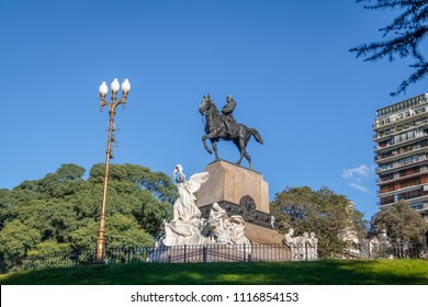 Buenos Aires, Argentina - May 12, 2018: Plaza Mitre (Mitre Square) - Buenos Aires, Argentina