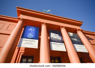 Buenos Aires, Argentina - Nov 22, 2016: National Museum of Fine Arts (MNBA) is an Argentine art museum in Buenos Aires, located in the Recoleta section of the city.