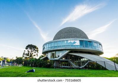 Buenos Aires, Argentina - November 11, 2017: Buenos Aires planetarium on a sunny day