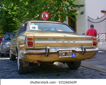 Buenos Aires, Argentina - November 2017: Ford Taurus GXL, classic car, parking in the streets of Recoleta neighbourhood.