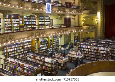 """Buenos Aires, Argentina. October 06, 2013. Library """"El Ateneo"""" in Buenos Aires city  Argentina, is a particularly interesting tourist attraction. image for editorial use. South American tourism."""