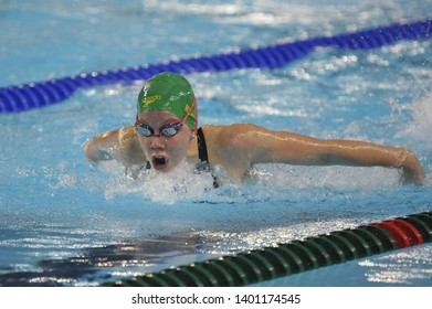Buenos Aires, Argentina. October 8, 2018. MICHAELA RYAN of Australia competes during the Women's 200 m Butterfly Final on Day 2 of the Buenos Aires 2018 Youth Olympic Games.