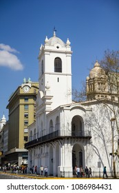 BUENOS AIRES, ARGENTINA - SEPTEMBER 12: Cabildo building in Buenos Aires, Argentina. Located at the May square, was the town hall of Buenos Aires 1580-1821, now is National Historical Museum