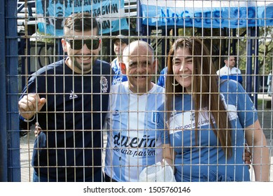 Buenos Aires, Argentina - September 15 2019, the joy of Diego Armando Maradona fans in the return to Argentine soccer.
