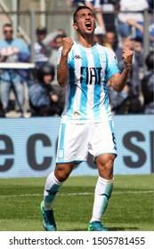 Buenos Aires, Argentina - September 15 2019, action in the match between Gimnasia y Esgrima de La Plata and Racing Club de Avellaneda. Diego Maradona's return to Argentine soccer