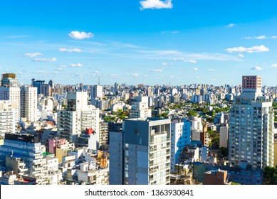 BUENOS AIRES, ARGENTINA – SEPTEMBER 7: View of the skyline on a sunny day on September 7, 2016 in Buenos Aires, Argentina.
