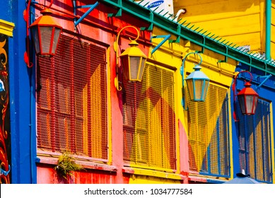BUENOS AIRES, ARGENTINA-APRIL 9: colored building are the famous landmark of  the caminito streeet  on the 9th april 2008 in Buenos Aires,Argentina. El caminito is situated in the boca bourogh
