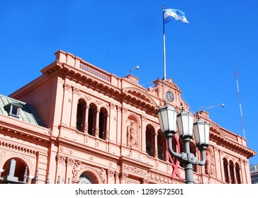 BUENOS AIRES ARGENTINE 11 25 11: Casa Rosada (pink house) Buenos Aires Argentina.La Casa Rosada is the official seat of the executive branch of the government of Argentina