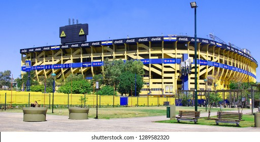 BUENOS AIRES ARGENTINE NOV 29: Stadium of Boca Juniors football team in Buenos Aires on 11 29 2011 in Argentina. The stadium is owned by Boca Juniors, one of Argentina's most famous football clubs