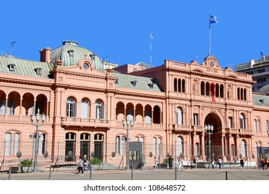 BUENOS AIRES ARGENTINE NOVEMBER 25:Casa Rosada (pink house) Buenos Aires Argentina.La Casa Rosada is the official seat of the executive branch of the government of Argentina on november 25 2011.