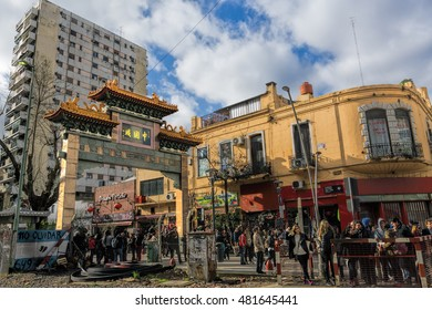 BUENOS AIRES, AUGUST 28, 2016 - China Town in Belgrano neighborhood, Buenos Aires, Argentina.