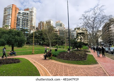 BUENOS AIRES, AUGUST 28, 2016 - Belgrano neighborhood, Buenos Aires, Argentina.