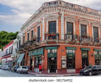 BUENOS AIRES, FEBRUARY 10, 2017 - Bar at Plaza Dorrego, San Telmo Neighborhood