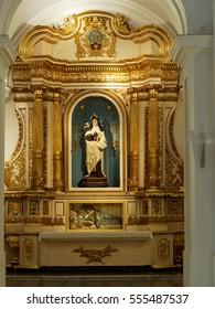 BUENOS AIRES, JANUARY 2, 2017 - Shrine inside catholic church