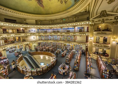 BUENOS AIRES - JANUARY 20, 2016 - El Ateneo Grand Splendid is one of the best known bookshops in Buenos Aires, Argentina