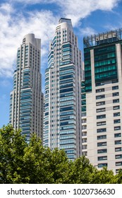 Buenos Aires - January 24, 2016: Skyscrapers and architecture in Puerto Madero, Buenos Aires, Argentina on November 17, 2017