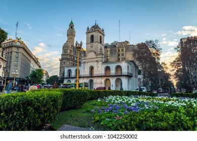 Buenos Aires - June 30, 2017: Cabildo building in Buenos Aires, Argentina