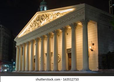 Buenos Aires Metropolitan Cathedral at night