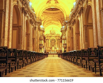 BUENOS AIRES, NOVEMBER 20, 2017 - Buenos Aires Metropolitan Cathedral is the main Catholic church in Buenos Aires, Argentina