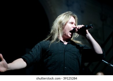 BUENOS AIRES - OCTOBER 14: STRATOVARIUS singer Timo Kotipelto performs onstage at THE END Theater October 14, 2009 in Buenos Aires, Argentina.