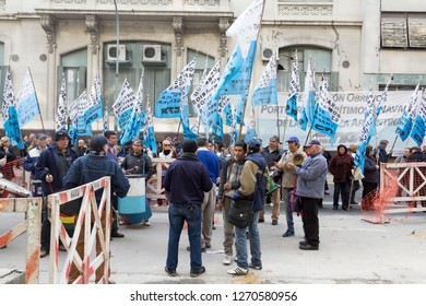 Buenos Aires State/Argentina 06/24/2014.Strike protest of maritime and naval port workers of the Republic of Argentina. Strike protest of maritime and naval port workers of the Republic of Argentina.