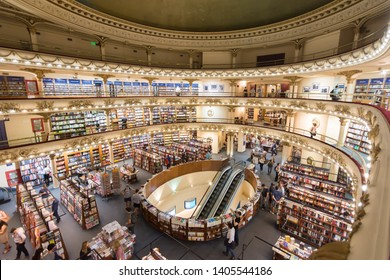 Buenos Aires/Argentina - March 09th 2017: El Ateneo Grand Splendid, Santa Fe Avenue 1860, One of the Beautiest Libraries in the World