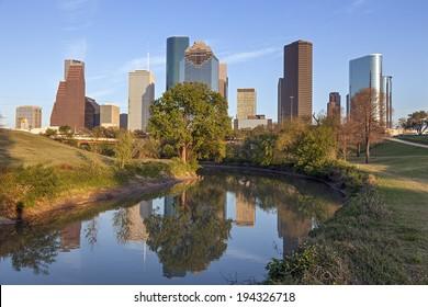 Buffalo Bayou and Downtown Houston, Texas