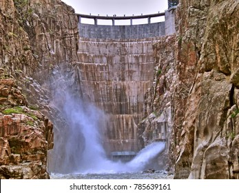 Buffalo Bill Dam in Cody, Wyoming, USA