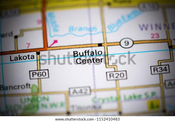 Buffalo Center. Iowa. USA on a map