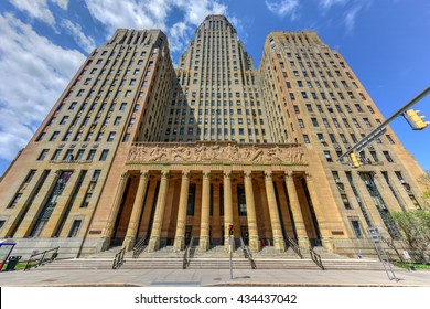 Buffalo City Hall, the seat for municipal government in the City of Buffalo, New York. Located at 65 Niagara Square, the 32 story Art Deco building was completed in 1931 by Dietel, Wade & Jones.