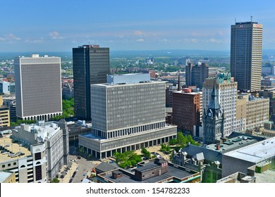 BUFFALO - JUNE 26 : The Buffalo,NY skyline on june 26,2013. Buffalo isthe second most populous city in the state of New York, after New York City. It has a population of 261,310 (2010 Census).
