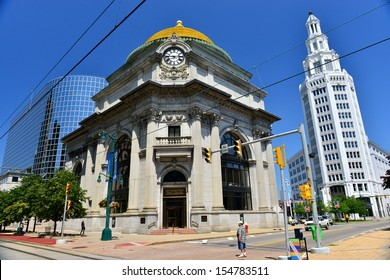 BUFFALO - JUNE 26 : The Buffalo Savings Bank in Buffalo,NY on june 26,2013. The building opened in May 1901.Its gold-leafed dome measures 23 feet tall and 56 feet in diameter.