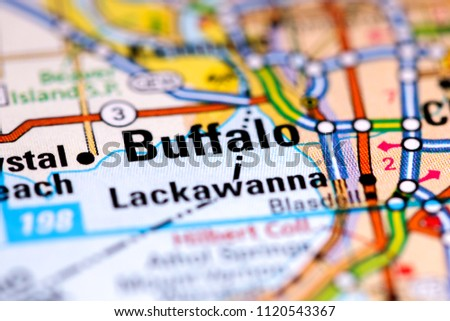 Buffalo New York Usa On Map Stock Photo Edit Now 1120543367