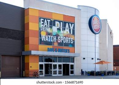Buffalo, New York, USA - September 22, 2019: One of the Dave & Buster's  restaurant in Buffalo USA. Dave & Buster's is an American restaurant and entertainment business.