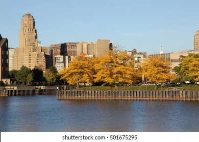 Buffalo, NY Skyline Late Afternoon In October
