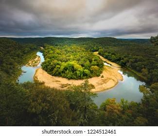 Buffalo River Horseshoe Bend in Arkansas Ozark Mountains