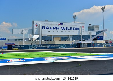 BUFFALO,NY - JUNE 26 :Ralph Wilson Stadium (originally Rich Stadium) on June 26,2013 in Buffalo,NY. This football stadium, home for the Buffalo Bills, of the NFL, has a capacity of 73079