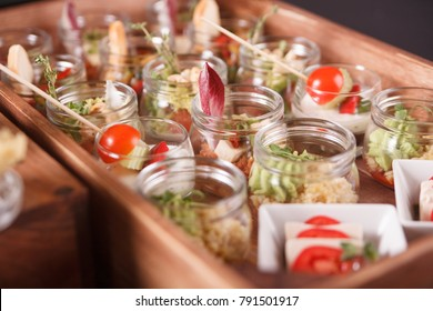 Buffet catering, on the table.