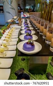 Buffet dessert in a hotel restaurant