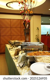 buffet party catering with lo hei yu sheng, asian and western cuisine, canapé and butler, dessert and drink halal menu for Chinese new year decoration celebrate fine dining at luxury hotel restaurant