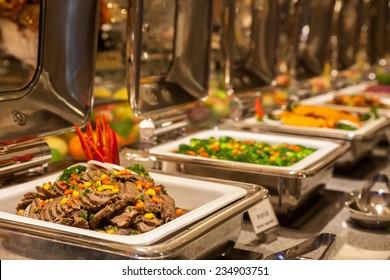 Buffet restaurant, the hotel restaurant