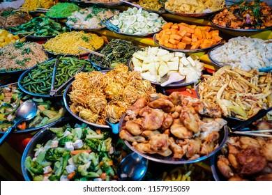 Buffet Street food to try in Luang Prabang, Laos