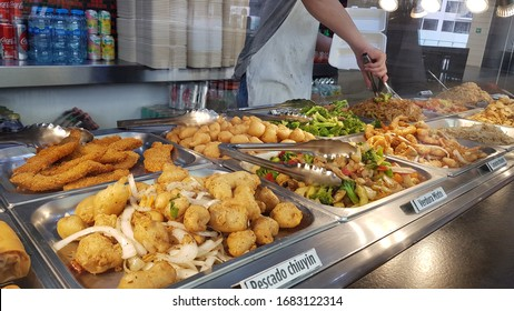 Buffet style Chinese delicious food