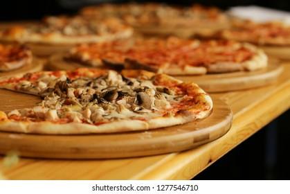 Buffettisch für Bankett, Sandwich und Pizza