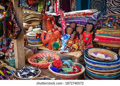 Buganda Road Craft Market in Kampala East Africa
