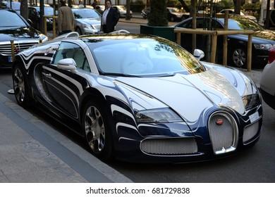 Bugatti Veyron L Or Blanc White Golden Stock Photo Edit Now