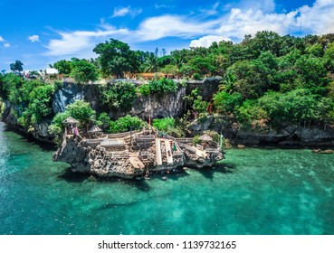 Buho Rock Pool Camotes Island Cebu; Cliff Jumping; Drone Picture