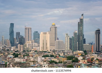 Buidling cityscape in center of Bangkok, Thailand
